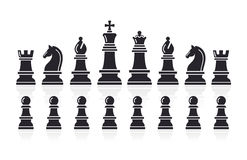Chess icons. Vector Illustration. Royalty Free Stock Photography