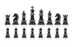 Chess icons. Vector Illustration. royalty free illustration