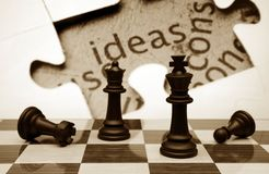 Chess and idea concept Royalty Free Stock Photo