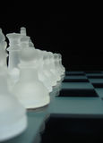 Chess II. Chessmen in initial position Stock Photos