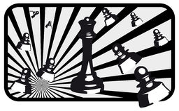 Chess illustration. Design of illustrations of chess royalty free illustration