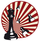 Chess illustration. Design of  illustrations of chess Stock Image