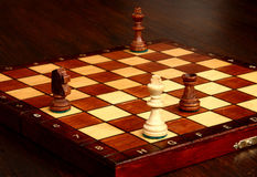 Chess. Inevitable loss, king in the last moments of power Stock Images