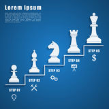 Chess infographic Stock Photography