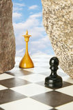 Chess island royalty free stock photography