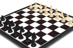 Checkmate. Chess isolated. Child checkmate concept royalty free stock images