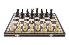 Chess, isolated over white Stock Photos