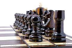 Chess, isolated over white Stock Photo