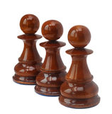 Chess isolated on white Royalty Free Stock Photography