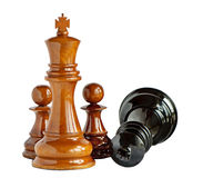 Chess isolated on white Royalty Free Stock Image