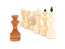 Chess isolated on white Stock Photo