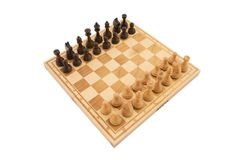 Chess isolated on white background Stock Images