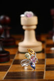 Chess jewellery royalty free stock photos