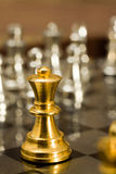 Chess (the King). Chess pieces (the King) on the game board Stock Images