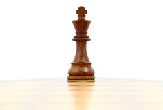 Chess King. Wooden chess king on a chess board Stock Photos