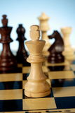 Chess king. A game of chess comes to an end. when the king is checkmated, and the other party is victorious Stock Image