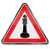 Chess and king as a pawn Stock Photography