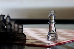 Chess King business concept - be seen, advertising Royalty Free Stock Photo