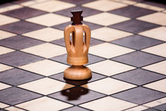 Chess king on the chessboard Stock Images