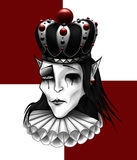 Chess king with crown illustration. royalty free stock photography