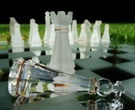 Chess King Defeated By Castle Royalty Free Stock Photos