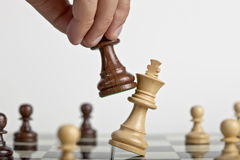Chess: King Down Stock Photography