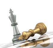 Chess: King Down Royalty Free Stock Image