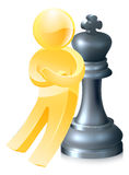 Chess king gold man Royalty Free Stock Photography