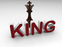 Chess King illustration Royalty Free Stock Photography
