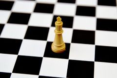 Chess king isolated on white Stock Images