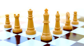 Chess king isolated on white Royalty Free Stock Photo