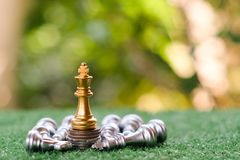 A chess king last stand as a true winner.Money game concept. Copy space play playing finance business economy competition strategy economic investment battle stock images