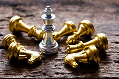 A chess king last stand as a true winner.Money game concept. Copy space play playing finance business economy competition strategy economic investment battle stock photos
