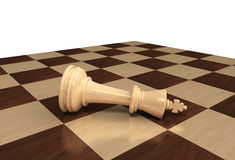 Chess King lost. One lost king chess piece Stock Image