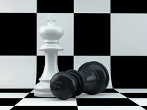 Chess king mate Stock Photography