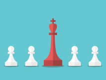 Chess king and pawns Royalty Free Stock Image