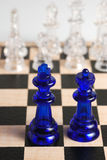 Chess king and queen Royalty Free Stock Photography