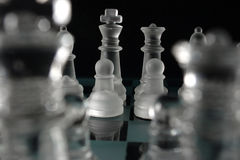 Chess king and queen Royalty Free Stock Image