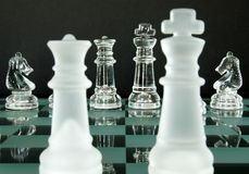 Chess King Queen Knights Stock Image