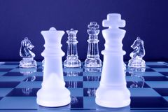 Chess King Queen Knights Stock Images