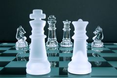 Chess King Queen Knights Royalty Free Stock Photo