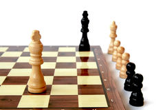 Chess King's game Royalty Free Stock Photography