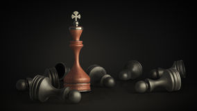 Chess king standing Stock Photography