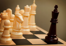 Chess king surrendering Stock Image
