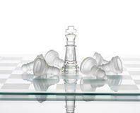 Chess King winning Pawns, Leadership Strategy Winning  Plan Stock Images