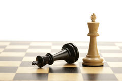 Chess kings. Black and white king on a chess game Stock Images