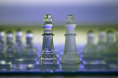 Chess Kings - business concept - competition Royalty Free Stock Photos