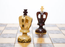Chess Kings one on one Royalty Free Stock Images