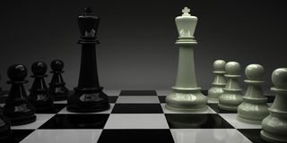 Chess. kings with their armies. Royalty Free Stock Images