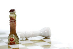 Chess Kings On White Stock Image